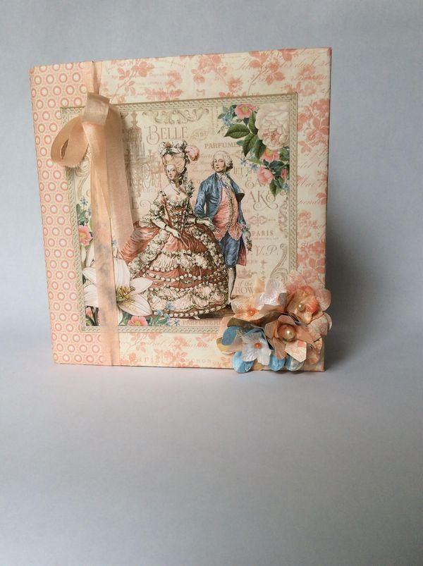 Beautiful Gilded Lily Album from Diane's Workshop! Use this new collection yourself in late May #graphic45