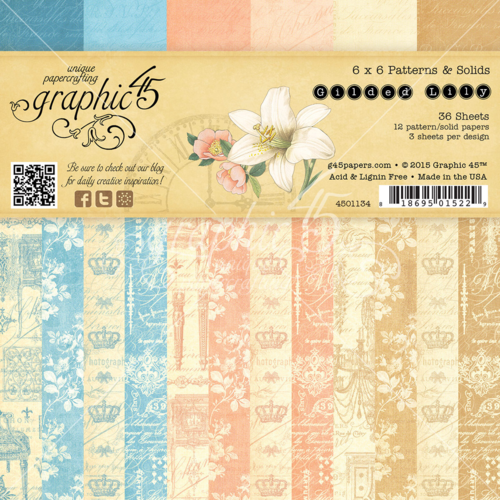 Gilded Lily 6x6 Patterns & Solids paper pad, in stores in late May 2015! #graphic45 #sneakpeeks