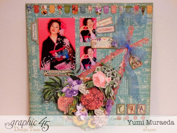 Lovely Time to Flourish layout by Yumi Muraeda using Time to Flourish! #graphic45