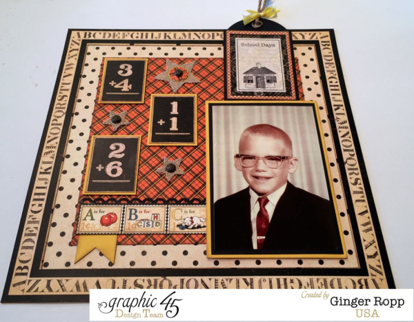 Celebrate National Scrapbook Day with this amazing An ABC Primer layout by Ginger #graphic45