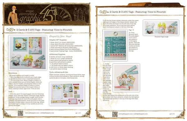 Make April Time to Flourish Cards & Tags with a free project sheet #graphic45