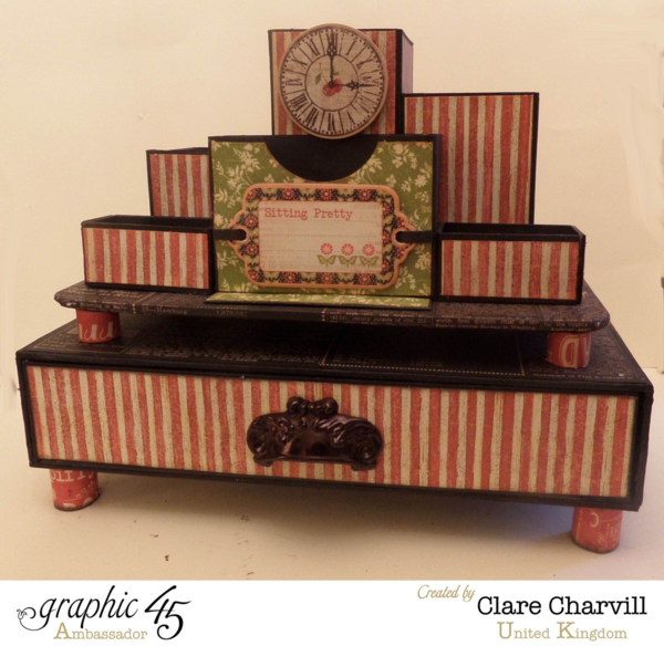Times Nouveau Desk tidy and Drawer Set by Clare Charvill #Graphic45