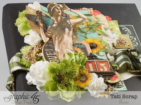 Tati Scrap uses Time to Flourish and Raining Cats & Dogs to make this fantastic album! We are in love #graphic45