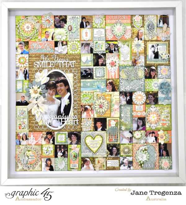 Amazing Shabby Patchwork layout by Jane using Botanical Tea! Incredible! #graphic45