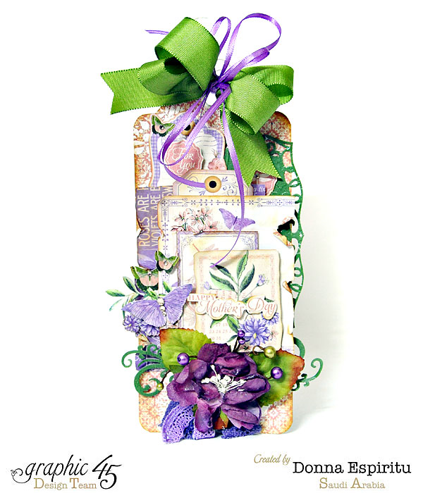 Happy Mother's Day Time to Flourish tag by Donna #graphic45