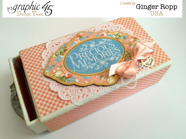 Precious Memories Matchbook Box by Ginger. This is just gorgeous! #graphic45