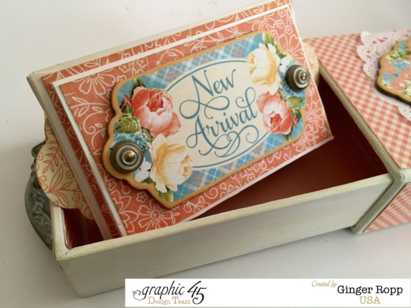 """New Arrival"" mini album by Ginger in a gorgeous Precious Memories matchbook box #graphic45"