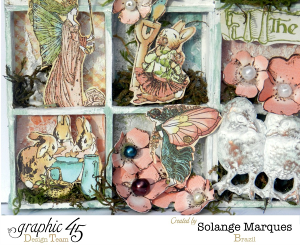 Gorgeous details all through this Once Upon a Springtime Configuration Box by Solange Marques #graphic45