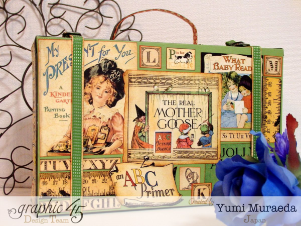 Adores this An ABC Primer case with so many gorgeous goodies inside! By: Yumi Muraeda #graphic45