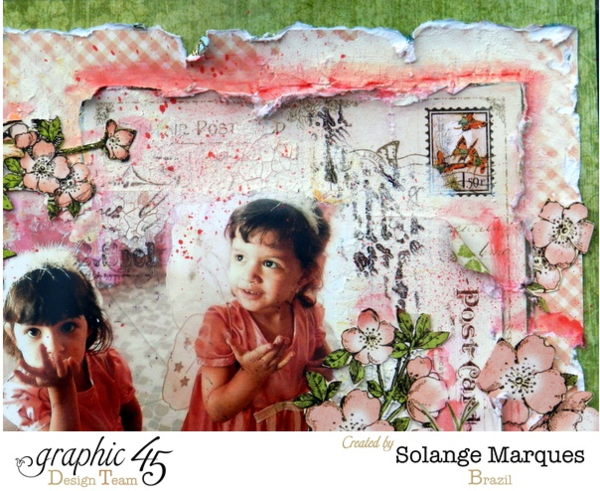 What precious photos on this perfect Once Upon a Springtime layout by Solange! How incredibly whimsical and gorgeous!! #graphic45