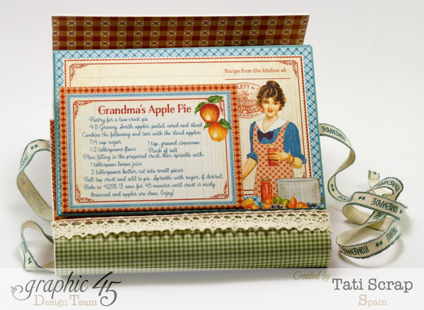 Love this Apple Pie page of Tati Scrap's Home Sweet Home recipe book #graphic45