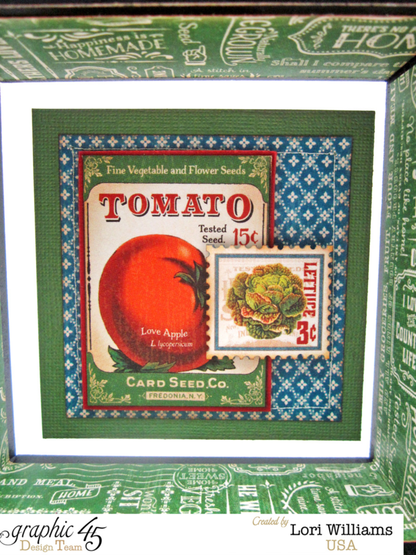 """""""Tomato"""" page on Graphic 45 Home Sweet Home Mixed Media Box by Lori Williams. So fun! #graphic45"""