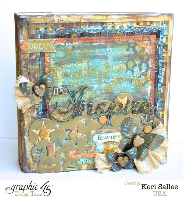 "Beautiful ""Inspire"" Mixed Media Artisan Style album by Keri."