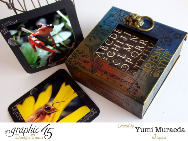 Mixed Media Artisan Style photo stand by Yumi Muraeda. Gorgeous! #graphic45