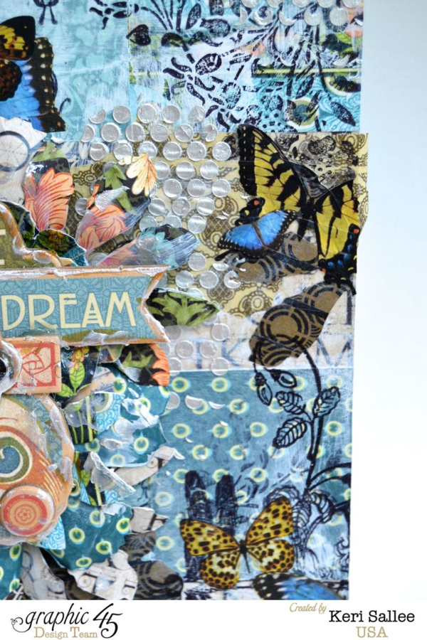Artisan Style mixed media canvas by Keri Sallee! Amazing layers and paint #graphic45