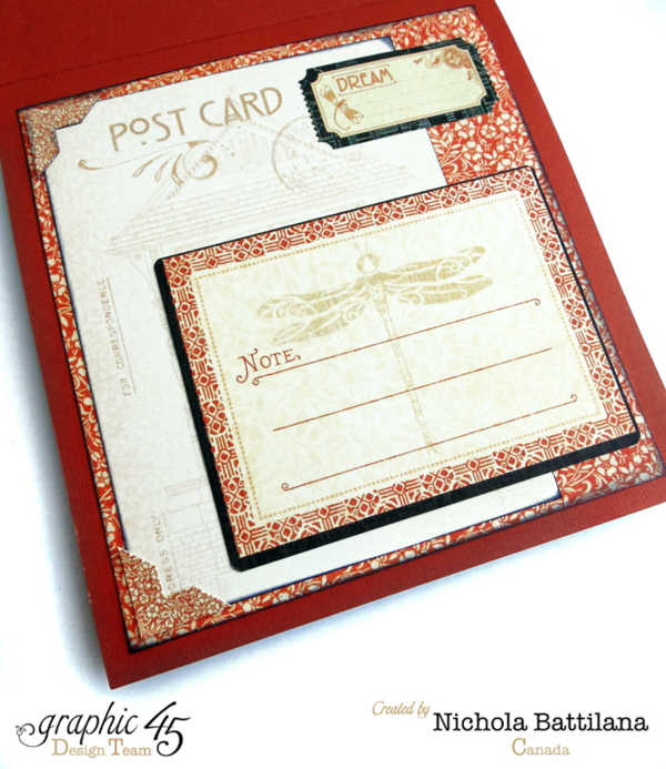 The inside of Nichola's Artisan Style card #graphic45