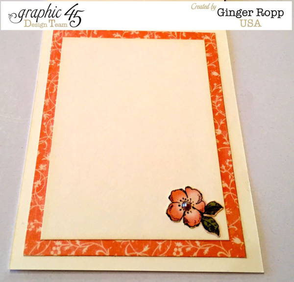 "The inside of Ginger's Once Upon a Springtime ""Growing Seeds of Friendship"" Card! Lovely #graphic45"