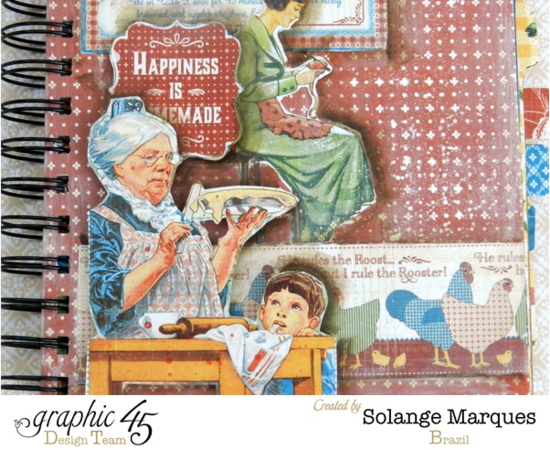 G45 Home Sweet Home collection mixed media box and recipe book by Solange Marques #graphic45