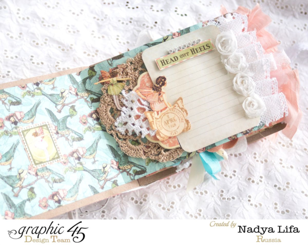 """Head over Heels"" page of this gorgeous Once Upon a Springtime mini-album by Nadya #graphic45"