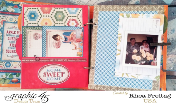 Home Sweet Home mixed medial album by Rhea #graphic45