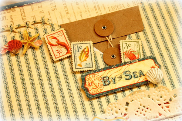 By The Sea lay-out by Romy #graphic45