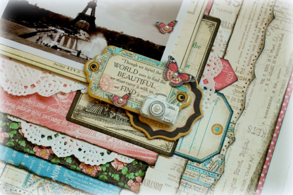 Come Away with Me travel layout by Romy #graphic45