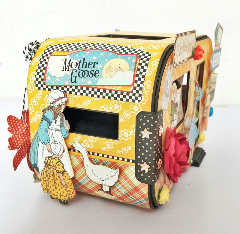 Bedtime Caravan Album - Mother Goose - by Belly Lau - Graphic 45 - 4 of 19