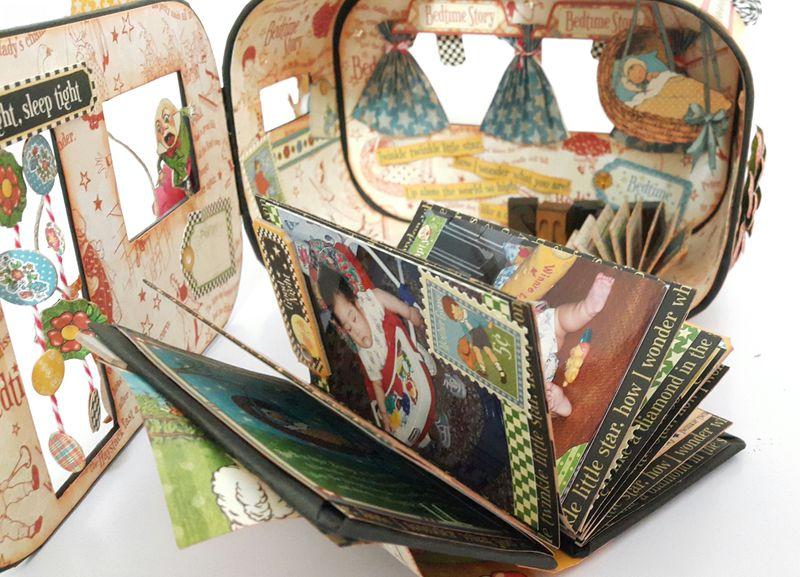 Bedtime Caravan Album - Mother Goose - by Belly Lau - Graphic 45 - 9 of 19