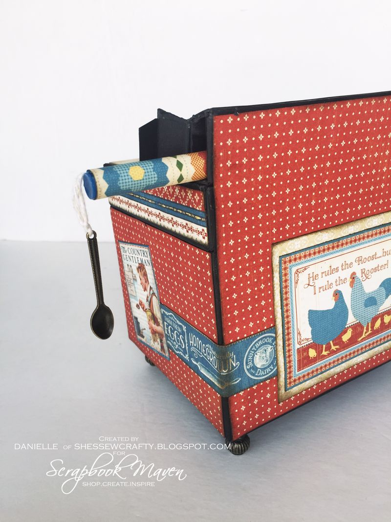 Oven Recipe Box, Home Sweet Home, by Danielle Copley, product by Graphic 45, photo 5