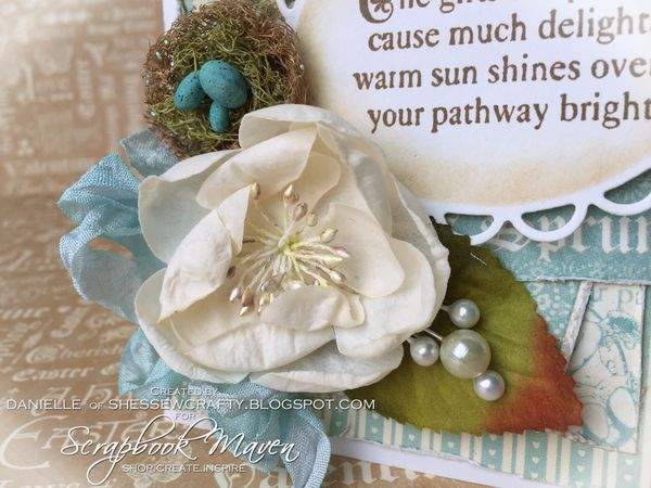 Spring Card, Sweet Sentiments, by Danielle Copley, product by Graphic 45, photo 1