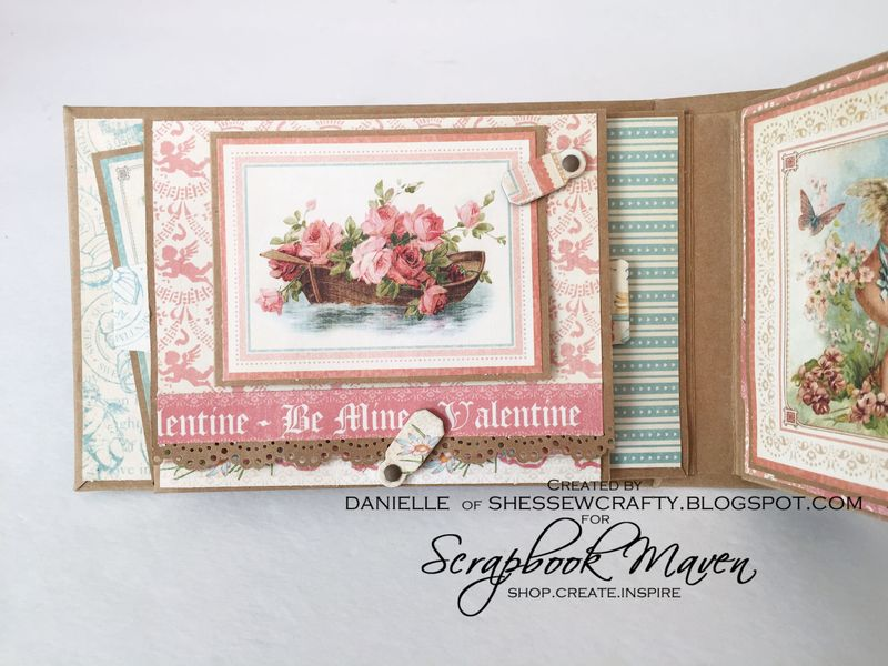 Spring Mini Album, Sweet Sentiments, by Danielle Copley, product by Graphic 45, photo 2