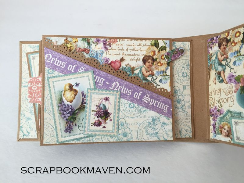 Spring Mini Album, Sweet Sentiments, by Danielle Copley, product by Graphic 45, photo 3