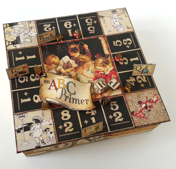An ABC Primer board game by Belly Lau! What fun! #graphic45