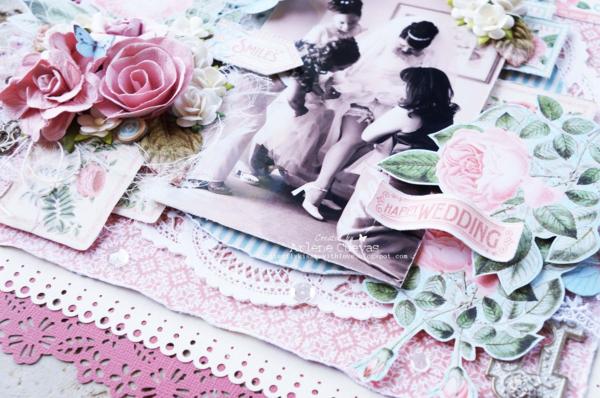 Arlene's Time to Flourish wedding layout #graphic45