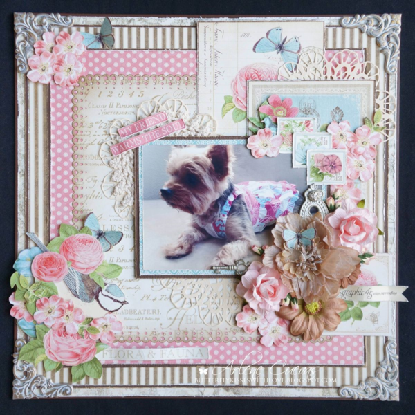 """My Friend"" Botanical Tea layout by Arlene #graphic45"
