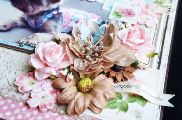 """My Friend"" Botanical Tea layout by Arlene #graphic45"