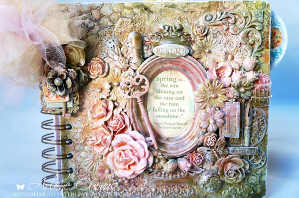 Mini Album with Secret Garden Mixed Media Cover by Arlene #graphic45