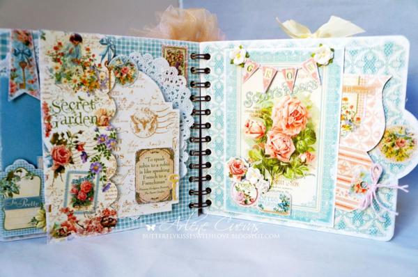 Arlene's Secret Garden mini album #graphic45