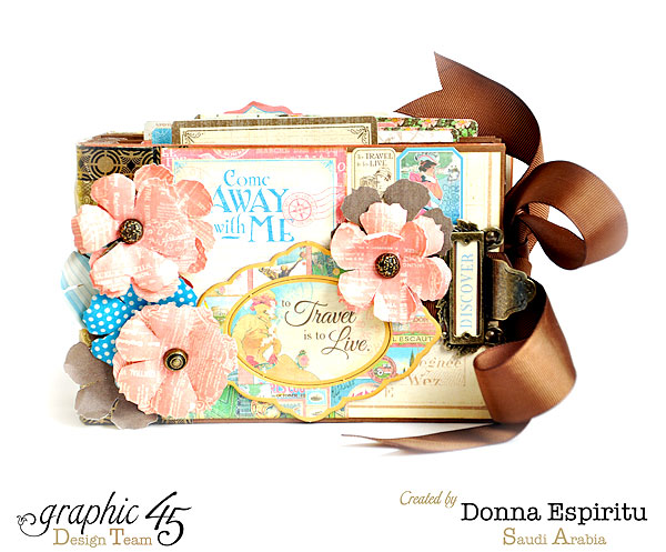 Come Away with Me Travel album by Donna #graphic45
