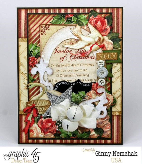 The Twelve Days of Christmas card by Ginny #graphic45