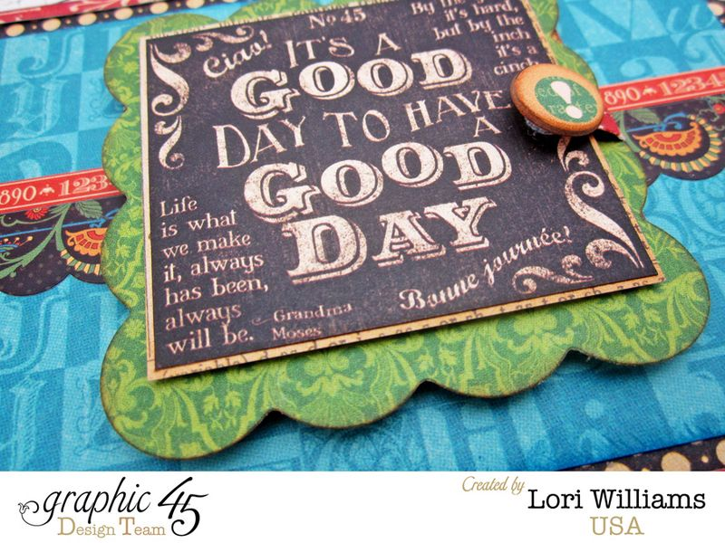 Typography Pocket Page Layout by Lori Williams using Graphic 45 product 2