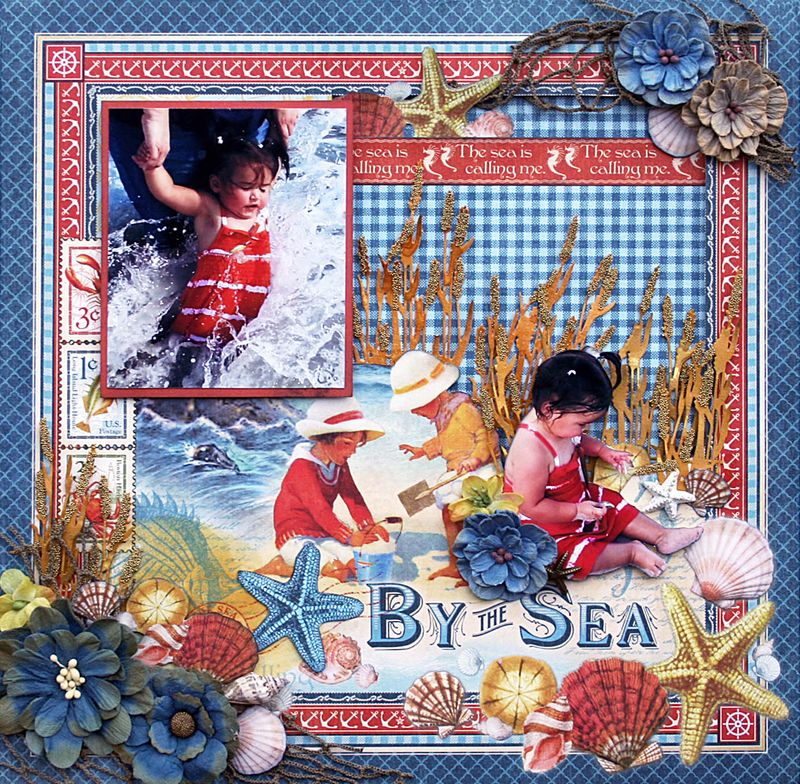 Layout, By the Sea, Maggi Harding, Graphic 45, Photo 1