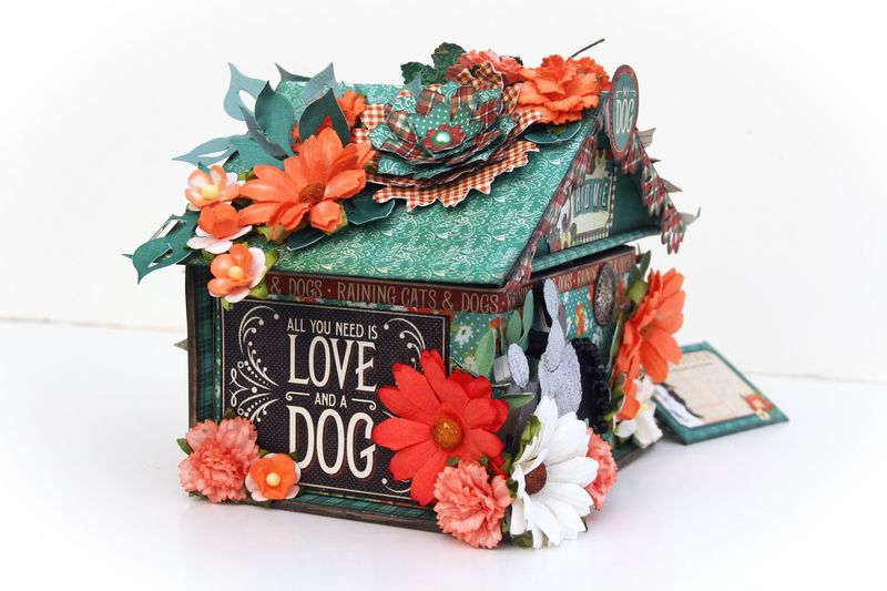 Doghouse gift box, Raining Cats and Dogs, Maggi Harding, Graphic 45, photo 4