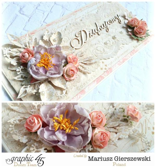 Gilded Lily wedding card by Mariusz Gierszewski #graphic45