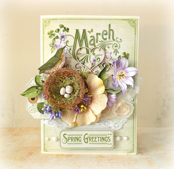 March Time to Flourish card by Mariuisz Gierszewski #graphic45