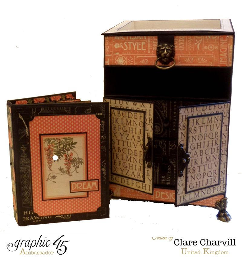 Artisan Style Bureau and Pocket Album 3 Clare Charvill Graphic 45