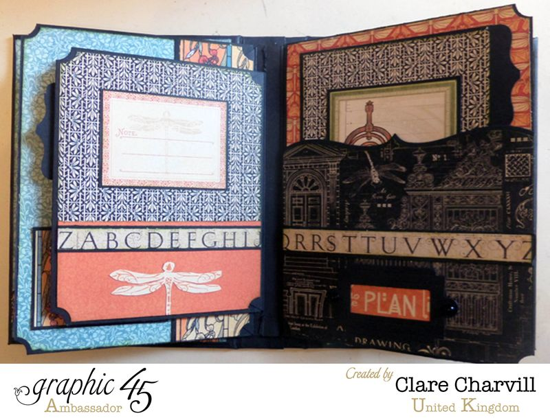 Artisan Style Bureau and Pocket Album 7 Clare Charvill Graphic 45