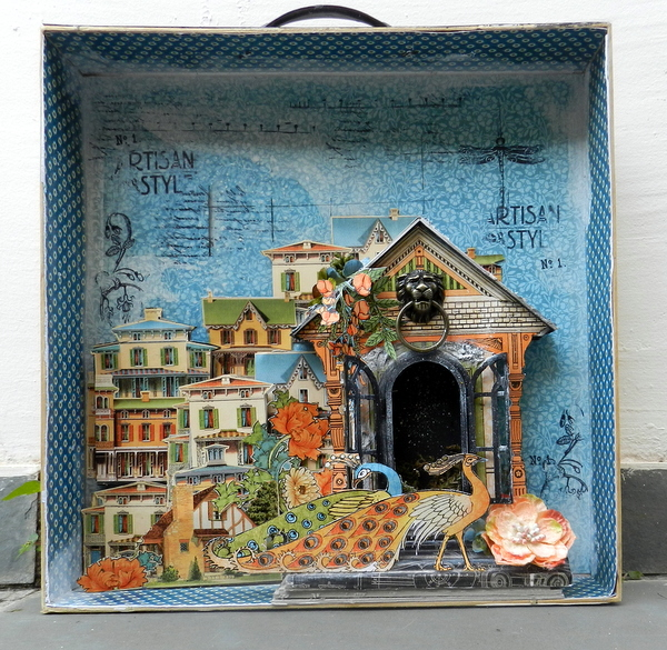 Mixed media box by Solange Marques- Graphic 45 Artisan Style collection