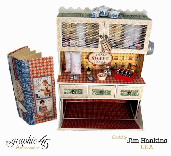 Home Sweet Home cupboard by Jim, the Gentleman Crafter (with a hidden mini!) #graphic45