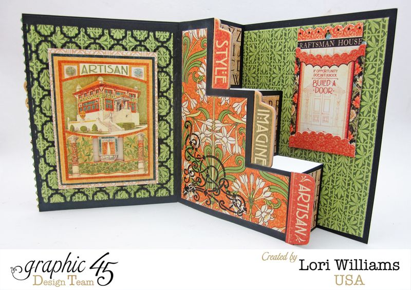 Step Card, Artisans Style, by Lori Williams, Product by Graphic45, photo 3